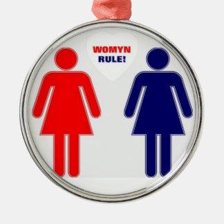 WOMYN RULE! METAL ORNAMENT
