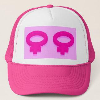 WOMYN SYMBOL TRUCKER HAT