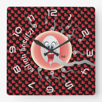 Won, one will be always first square wall clock