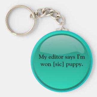 Won [sic] puppy keychain