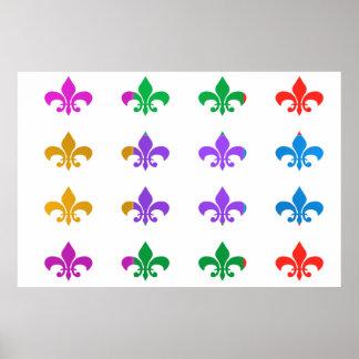 WONDER Color Mania : FLEUR DE LIS Poster