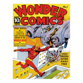 Wonder Comics 1 Post Card