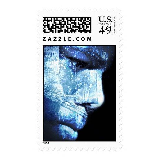 wonder in blue postage stamp