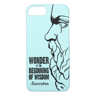 Wonder Is The Beginning Of Wisdom - Socrates Quote iPhone 7 Case