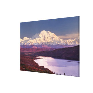 Wonder Lake and Mt. Denali at sunrise in the Canvas Print