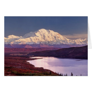 Wonder Lake and Mt. Denali at sunrise in the Card