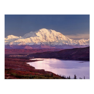 Wonder Lake and Mt. Denali at sunrise in the Postcard