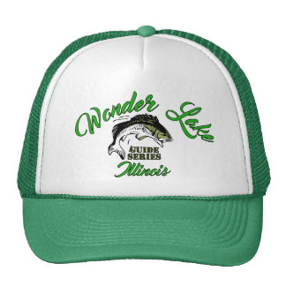 Wonder Lake Bass Green Trucker Hat