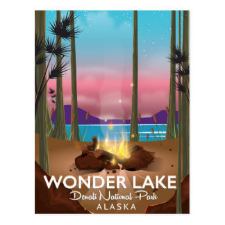 Wonder Lake, Denali national park Alaska Postcard