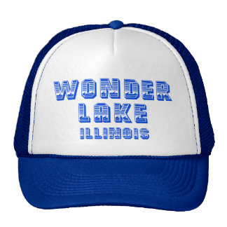 Wonder Lake Illinois Blue Waterline Trucker Hat
