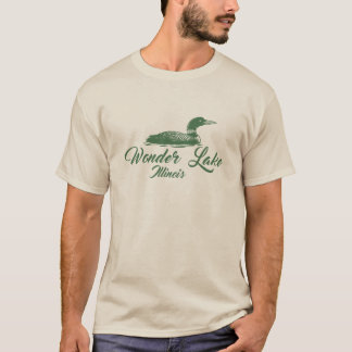 Wonder Lake Illinois Earth Duck Men's Basic TShirt