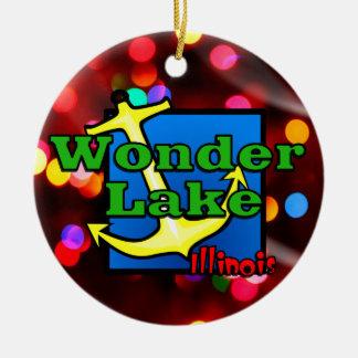 Wonder Lake Lights Circle Ornament