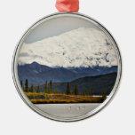 Wonder Lake Round Metal Christmas Ornament