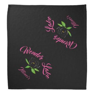 Wonder Lake Water Lilly Pink and Black Bandana