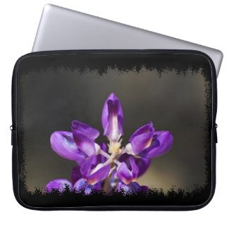Wonder Lupine Black Edge Laptop Computer Sleeve