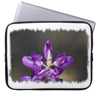 Wonder Lupine White Edge Laptop Computer Sleeves