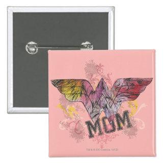 Wonder Mom Mixed Media Button