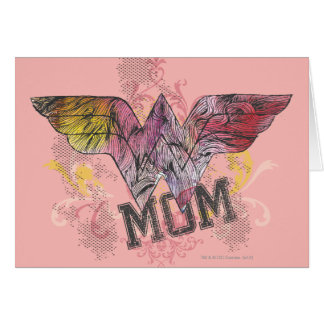 Wonder Mom Mixed Media Card