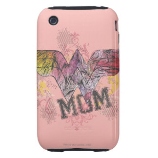 Wonder Mom Mixed Media Tough iPhone 3 Cover