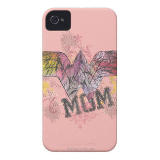 Wonder Mom Mixed Media iPhone 4 Case-Mate Case