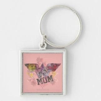 Wonder Mom Mixed Media Key Chain