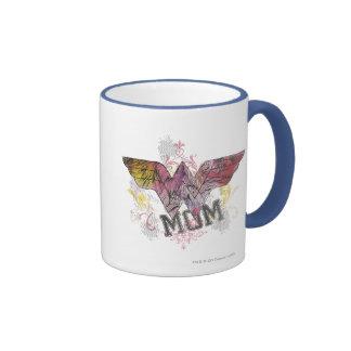 Wonder Mom Mixed Media Ringer Mug