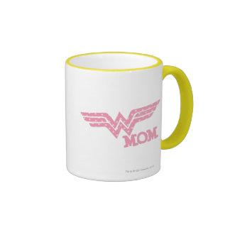 Wonder Mom Pink Ringer Mug