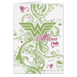 Wonder Mom Swirls Greeting Card