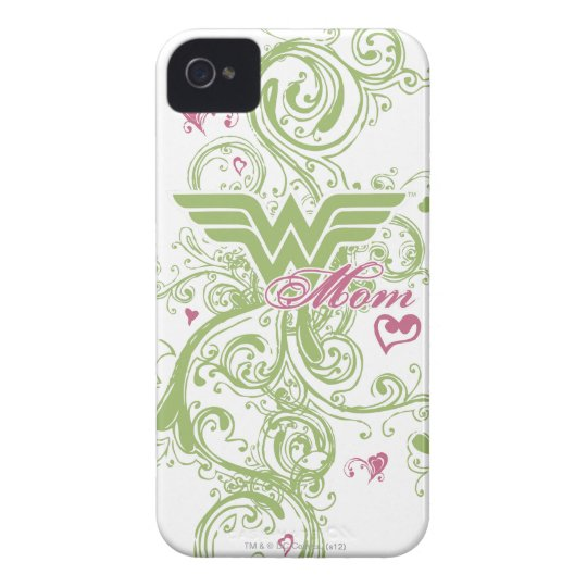 Wonder Mom Swirls iPhone 4 Cover