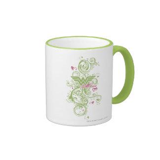 Wonder Mom Swirls Ringer Coffee Mug