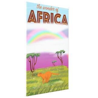 Wonder of Africa vintage travel poster Canvas Print