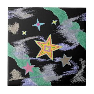 Wonder of the Night Christmas Stars Tile