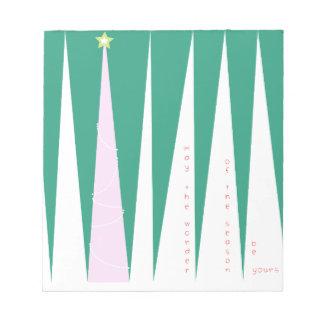 Wonder of the Season Christmas Tree Notepad