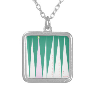 Wonder of the Season Christmas Tree Silver Plated Necklace