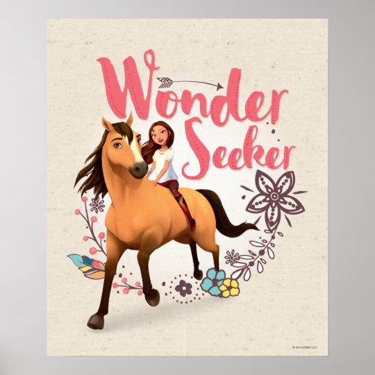 """wonder seeker"" spirit  lucky poster  zazzle"