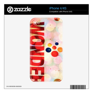 Wonder iPhone 4 Skins