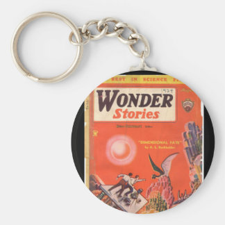 Wonder Stories v06 n03 (1934-08.Continental)_Pulp Basic Round Button Keychain