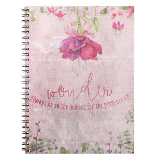 Wonder- Typography & Illustration Notebook