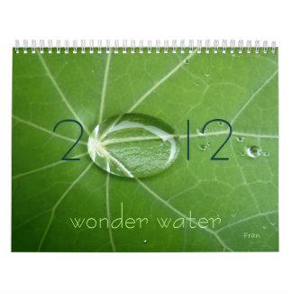 wonder water 2012 calendar