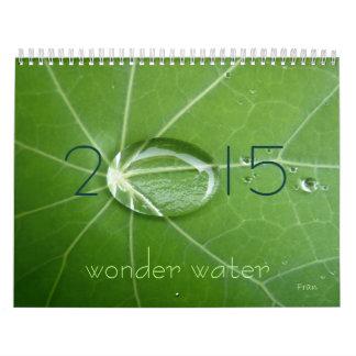 wonder water 2015 calendar