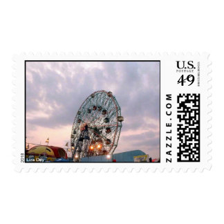 Wonder Wheel Against Twilight Sky (Coney Is., NY) Postage