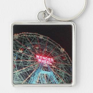'Wonder Wheel at Night' Premium Keychain