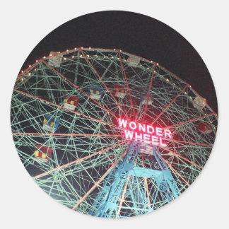 'Wonder Wheel at Night' Stickers