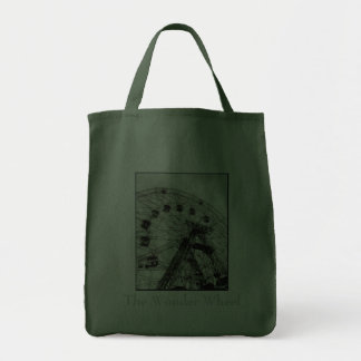 Wonder Wheel Canvas Grocery Tote Canvas Bags