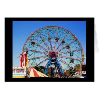 Wonder Wheel - Coney Island, NYC greeting card