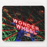 'Wonder Wheel Neon' Mousepad