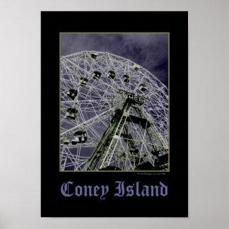 Wonder Wheel Psychedelic Poster