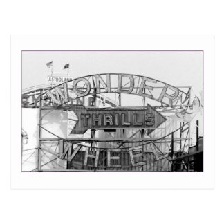 Wonder Wheel Thrills (Coney Island, NY) postcard