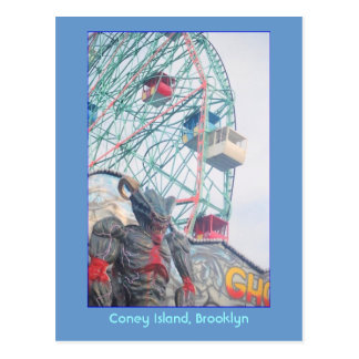 Wonder Wheel with Demon (Coney Is., NY) postcard