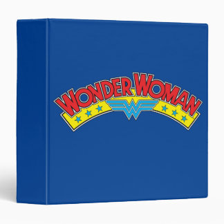 Wonder Woman 1987 Comic Book Logo 3 Ring Binder